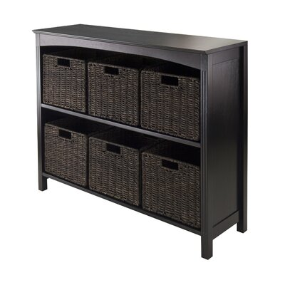 Charlton home martinsville 6 drawers 2 tier storage shelf for Storage charlton
