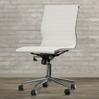 Varick Gallery Willowridge Mid-Back Adjustable Leather Office Chair