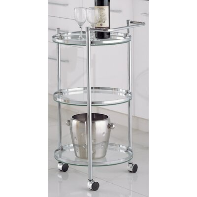 Varick Gallery Loudon Chrome Serving Cart