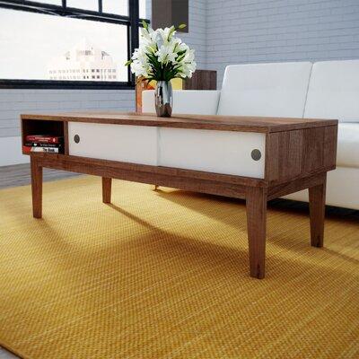 varick gallery soft modern coffee table & reviews   wayfair