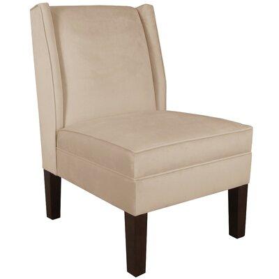 Brayden Studio Velvet Wingback Chair