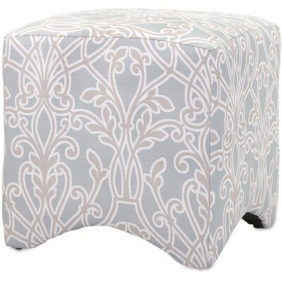 Alcott Hill Crawford Floral Cube Ottoman