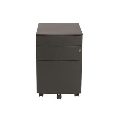 Brayden Studio Brook 3 Drawer Mobile Filing Cabinet