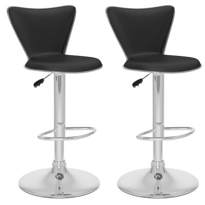 Brayden Studio Honea Adjustable Height Swivel Bar Stool (Set of 2)