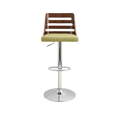 Brayden Studio Testerman Adjustable Height Swivel Bar Stool