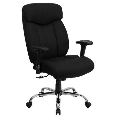 Brayden Studio Dewalt High-Back Big and Tall Leather Executive Chair with Arms