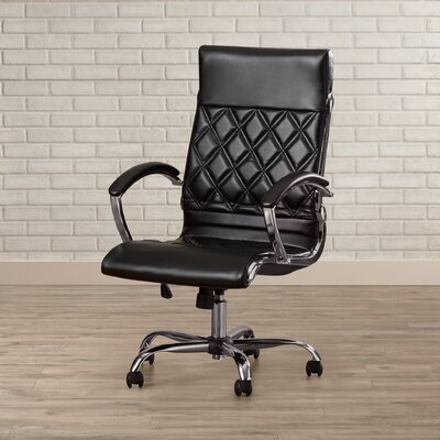Brayden Studio Camp Mabry Adjustable High-Back Executive Chair