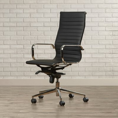 Brayden Studio Kingston High-Back Upholstered Faux Leather Executive Office Chair Image