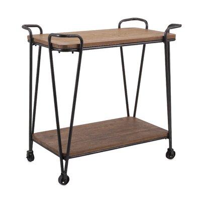 Brayden Studio Cottrell Wood and Iron Table