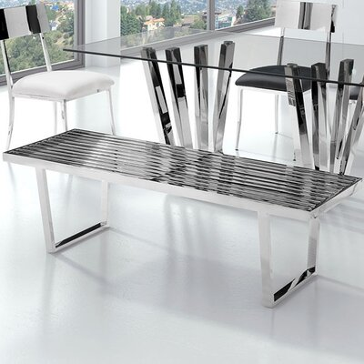 Brayden Studio Cawley Metal Kitchen Bench