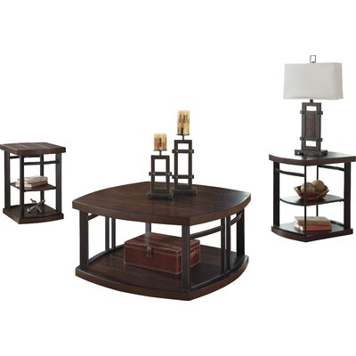 Brayden Studio Dube 3 Piece Coffee Table ..