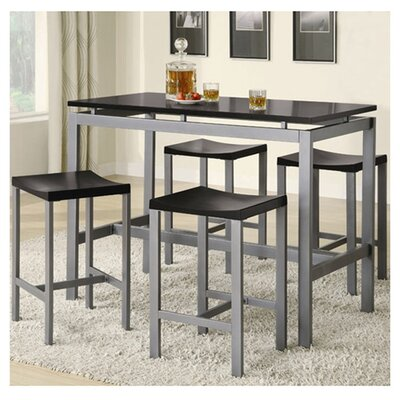 Kaitlin Daryl 5 Piece Counter Height Pub Table Set