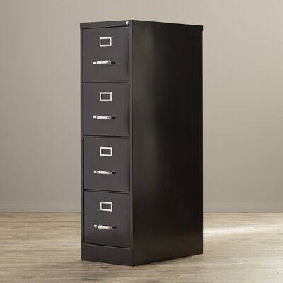 Wade Logan Pierre 4 Drawer Commercial Letter Size Vertical Filing Cabinet