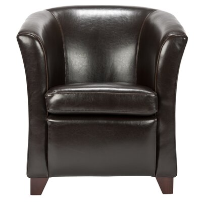 Wade Logan Apollo Leather Barrel Chair
