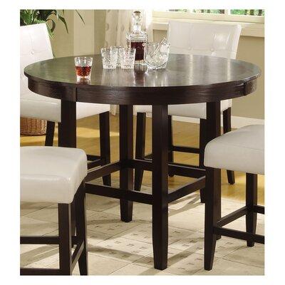 Wade Logan Christensen Round Counter Height Dining Table in Dark Chocolate