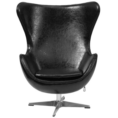 Wade Logan Leather Tilt-Lock Mechanism Lounge Chair