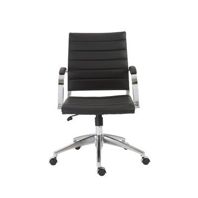 Wade Logan Emil Low-Back Leather Task Chair