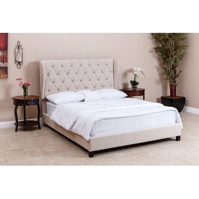 Wade Logan Queen Upholstered Platform Bed