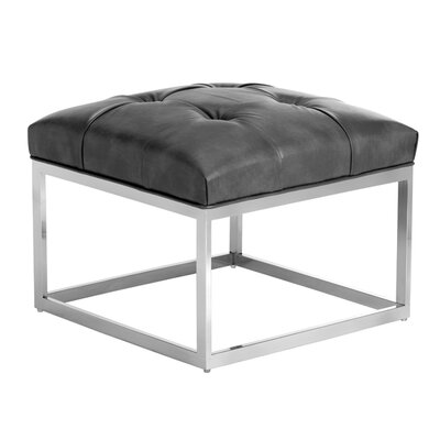 Wade Logan Alexander Leather Small Ottoman