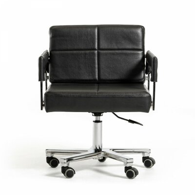 Wade Logan Wesley Low-Back Office Chair with Arms