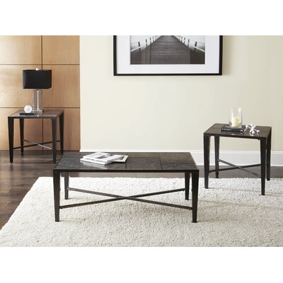 Wade Logan Booker 3 Piece Coffee Table Set