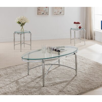 Wade Logan Rush 3 Piece Coffee Table Set