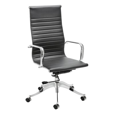 Wade Logan Carter Leather Office Chair with Arms