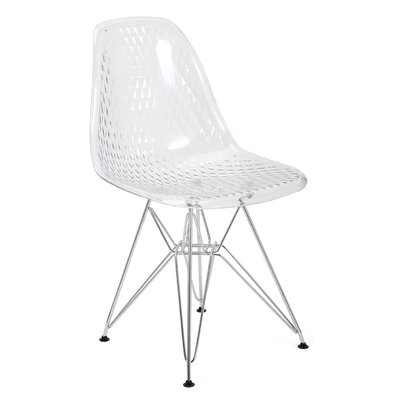 Wade Logan Monte Transparent Side Chair