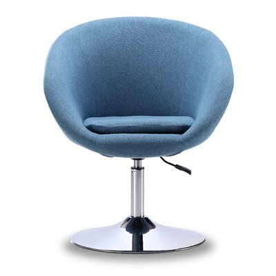Wade Logan Luz Swivel Barrel Chair