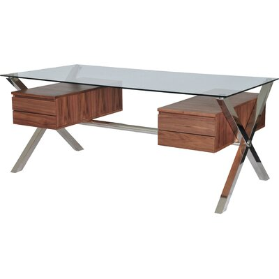 Wade Logan Emiliano 4 Drawer Writing Desk