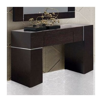 Wade Logan Patterson Wall Console with Mirror