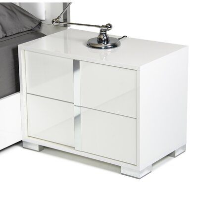 Wade Logan Marley 2 Drawer Nightstand