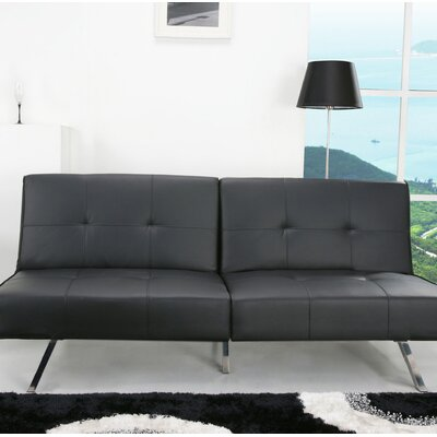Wade Logan Reily Leatherette Futon Sleeper Sofa
