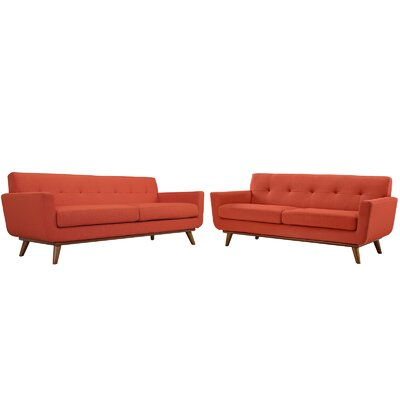 Corrigan Studio Saginaw Loveseat and Sofa Set