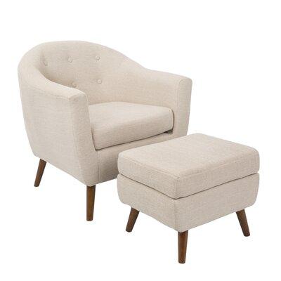 Corrigan Studio Laurence Chair and Ottoman