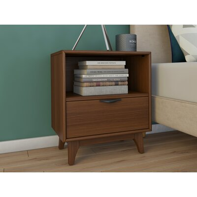 Corrigan Studio Alperton 1 Drawer Nightstand