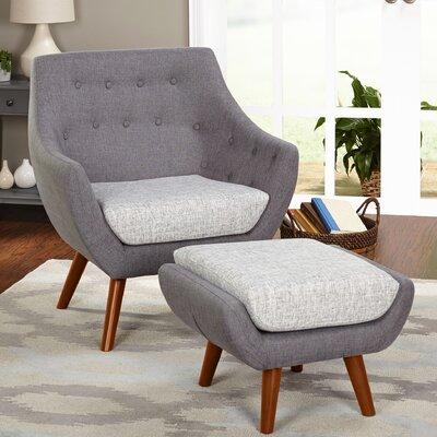 Langley Street Murfreesboro 2 Piece Arm Chair and Ottoman Set
