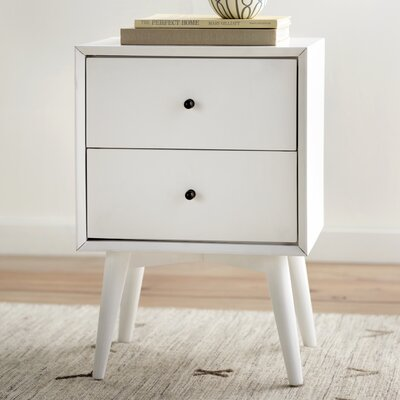 Langley Street Parocela 2 Drawer Nightstand