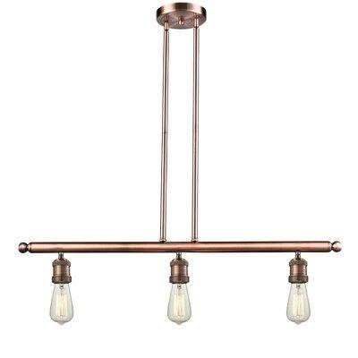 innovations lighting bare bulb 3 light kitchen island pendant bare bulb lighting