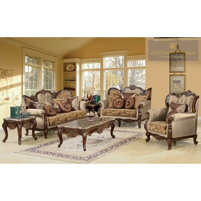 BestMasterFurniture Jenna 2 Piece Traditional Sofa and Loveseat Set