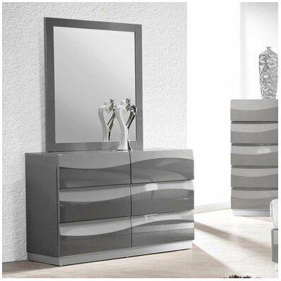 BestMasterFurniture Leon 6 Drawer Dresser with Mirror