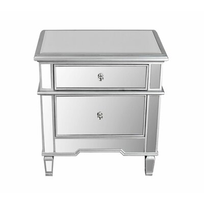 BestMasterFurniture 2 Drawer Nightstand