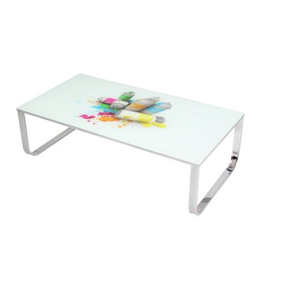 BestMasterFurniture Art Glass Coffee Table
