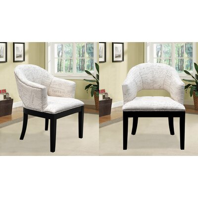 BestMasterFurniture French Print Living Room Arm Chair (Set of 2)