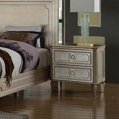 BestMasterFurniture Palais 2 Drawer Nightstand