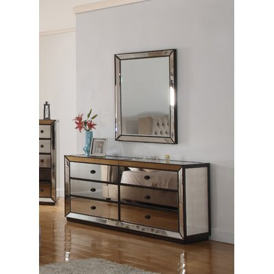BestMasterFurniture 6 Drawer Dresser and Mirror
