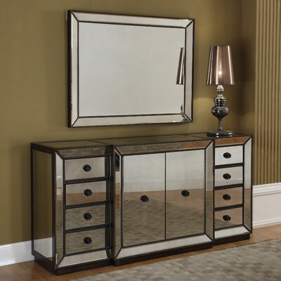 BestMasterFurniture Sideboard and Mirror Image