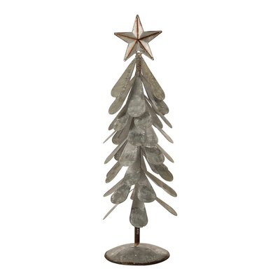 williston forge iron galvanized xmas tree dcor reviews wayfair - Iron Christmas Tree