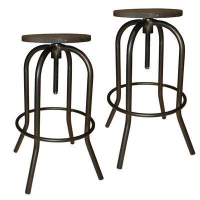 !nspire Adjustable Height Swivel Bar Stool (Set of 2)