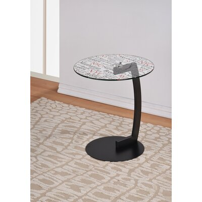 !nspire NYC Printed Glass Top End Table Image